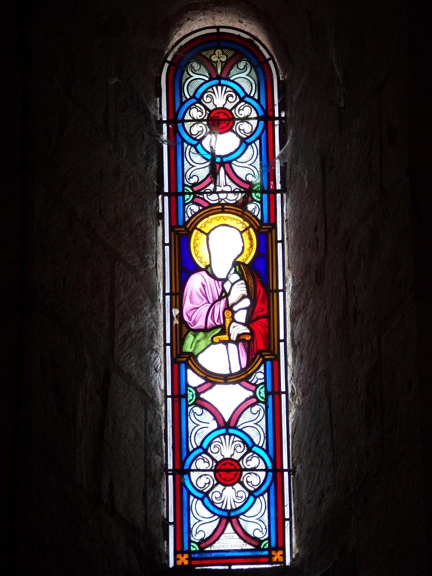 Thors - L'église Sainte-Madeleine - Un vitrail (19 août 2019)