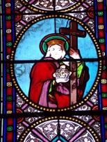 Migron - L'église Saint-Nazaire - Un vitrail (29 juin 2019)