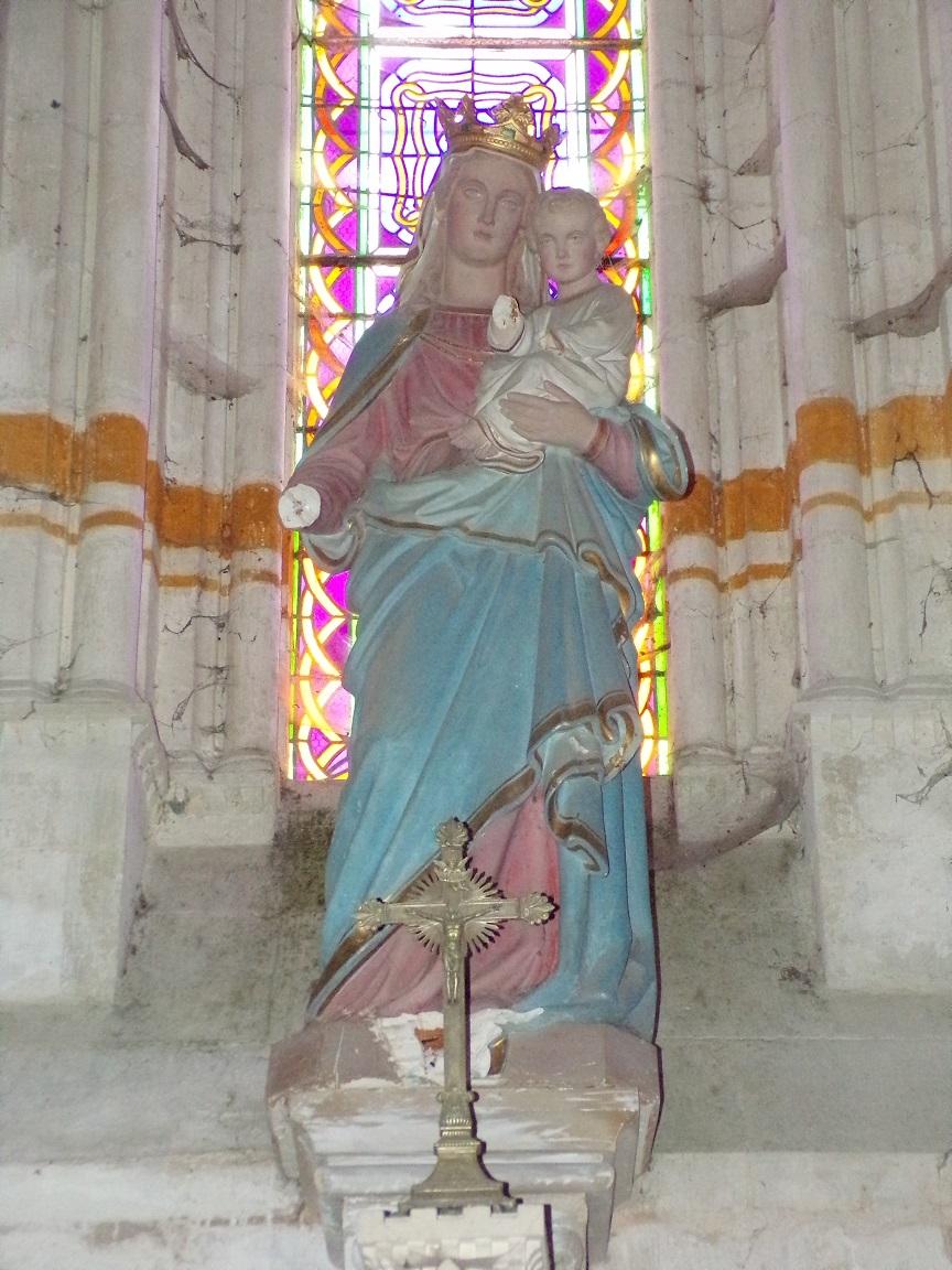 Pérignac - L'église Saint-Pierre - Marie et l'Enfant (21 août 2019)