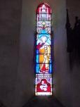 Angeac-Champagne - L'Eglise Saint-Vivien - Le vitrail 'Saint Pierre' (13 mai 2019)