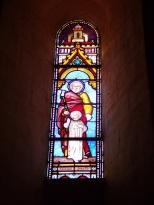Angeac-Champagne - L'Eglise Saint-Vivien - Le vitrail 'Saint Joseph' (13 mai 2019)