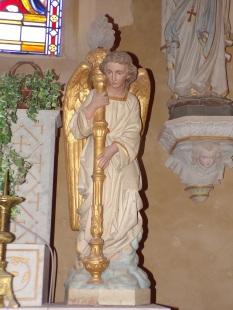Angeac-Champagne - L'Eglise Saint-Vivien - Un ange (13 mai 2019)