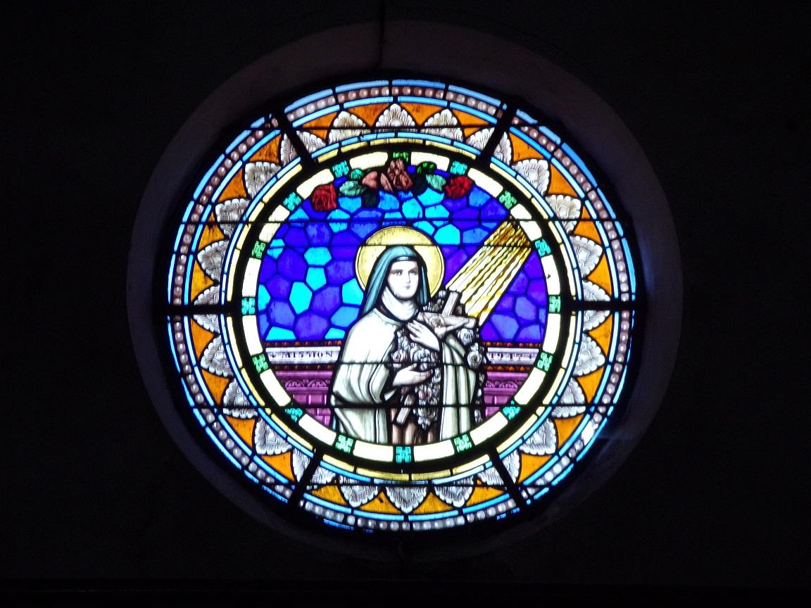 Angeac-Champagne - L'Eglise Saint-Vivien - Le vitrail 'Mission 1917' (13 mai 2019)