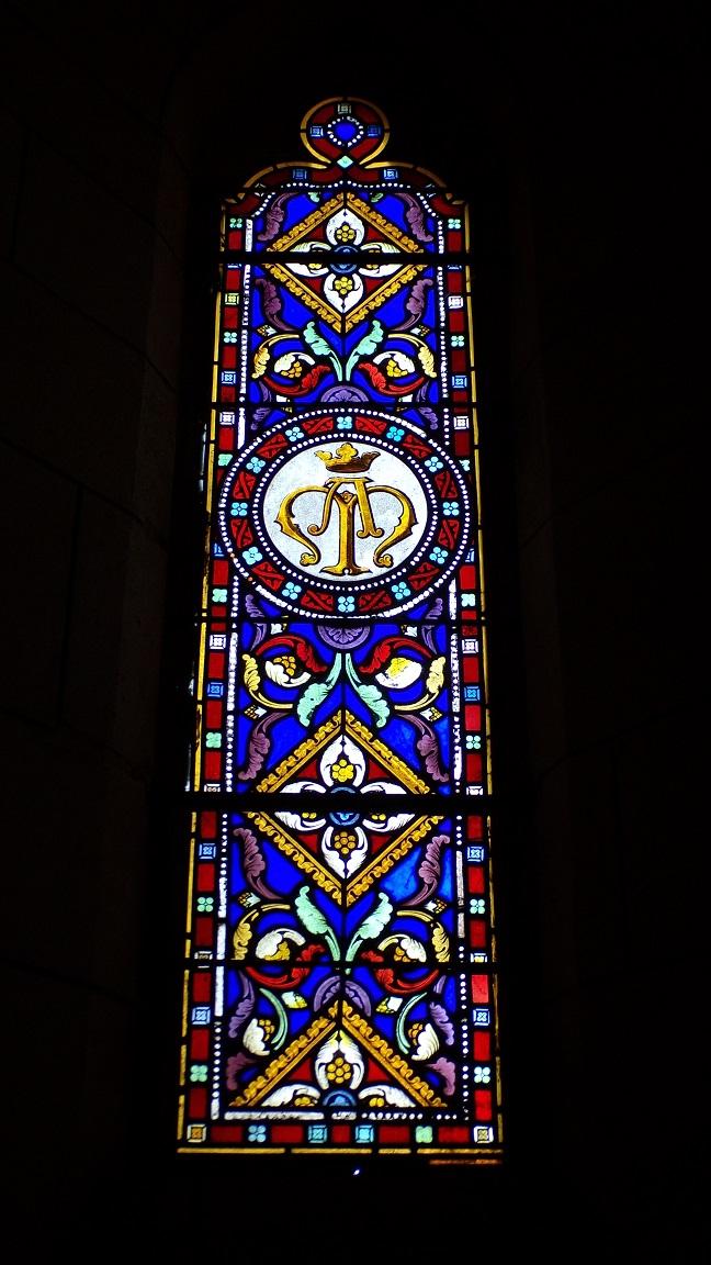 Angeac-Charente - L'église Saint-Pierre - Un vitrail (5 mai 2018)