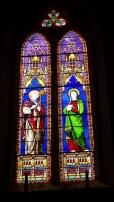 Angeac-Charente - L'église Saint-Pierre - Le vitrail 'Saint Auguste, Sainte Monique' (5 mai 2018)