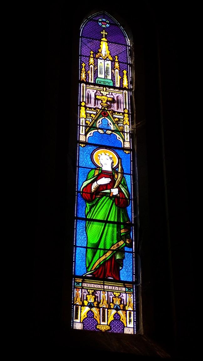 Angeac-Charente - L'église Saint-Pierre - Le vitrail 'Sainte Julia' (5 mai 2018)
