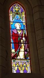 Angeac-Charente - L'église Saint-Pierre - Le vitrail 'Sainte Marguerite' (5 mai 2018)