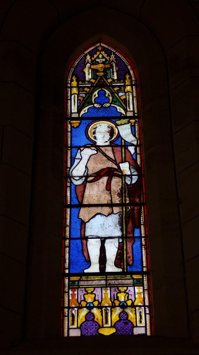 Angeac-Charente - L'église Saint-Pierre - Le vitrail '' (5 mai 2018)