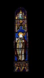 Angeac-Charente - L'église Saint-Pierre - Le vitrail 'Saint Eugène' (5 mai 2018)