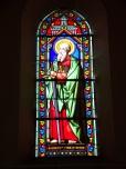 Brives sur Charente - L'église Saint-Etienne - Le vitrail 'Saint Paul' (27 juin 2018)
