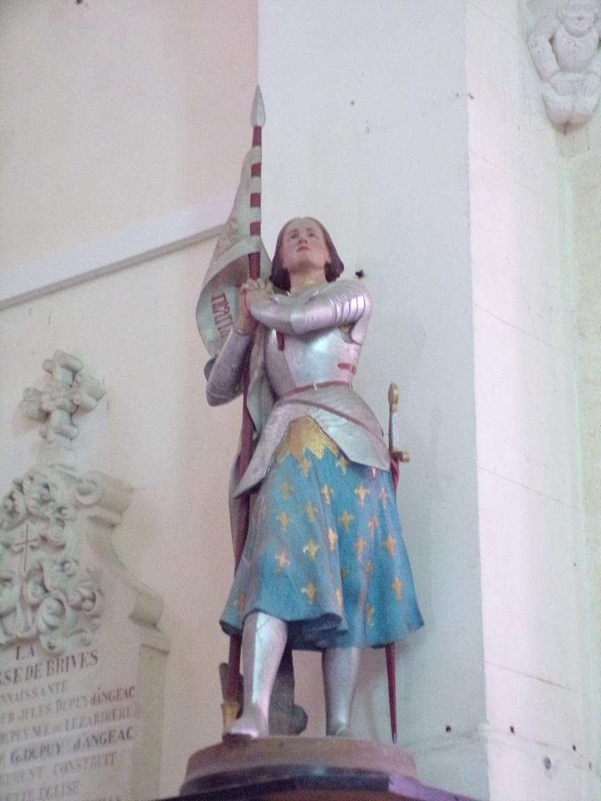 Brives sur Charente - L'église Saint-Etienne - Jeanne d'Arc (27 juin 2018)