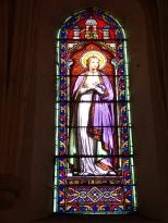 Brives sur Charente - L'église Saint-Etienne - Le vitrail 'Sainte Laure' (27 juin 2018)