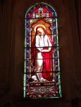Brives sur Charente - L'église Saint-Etienne - Le vitrail 'Sainte Marie Madeleine' (27 juin 2018)