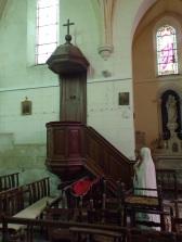 Brives sur Charente - L'église Saint-Etienne - La chaire (27 juin 2018)