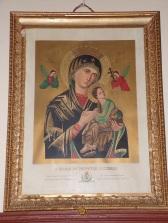 Celles - L'église Saint-Christophe - Le tableau 'S. Maria de Perpetuo Succursu' (12 juillet 2018)