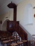 Celles - L'église Saint-Christophe - La chaire (12 juillet 2018)