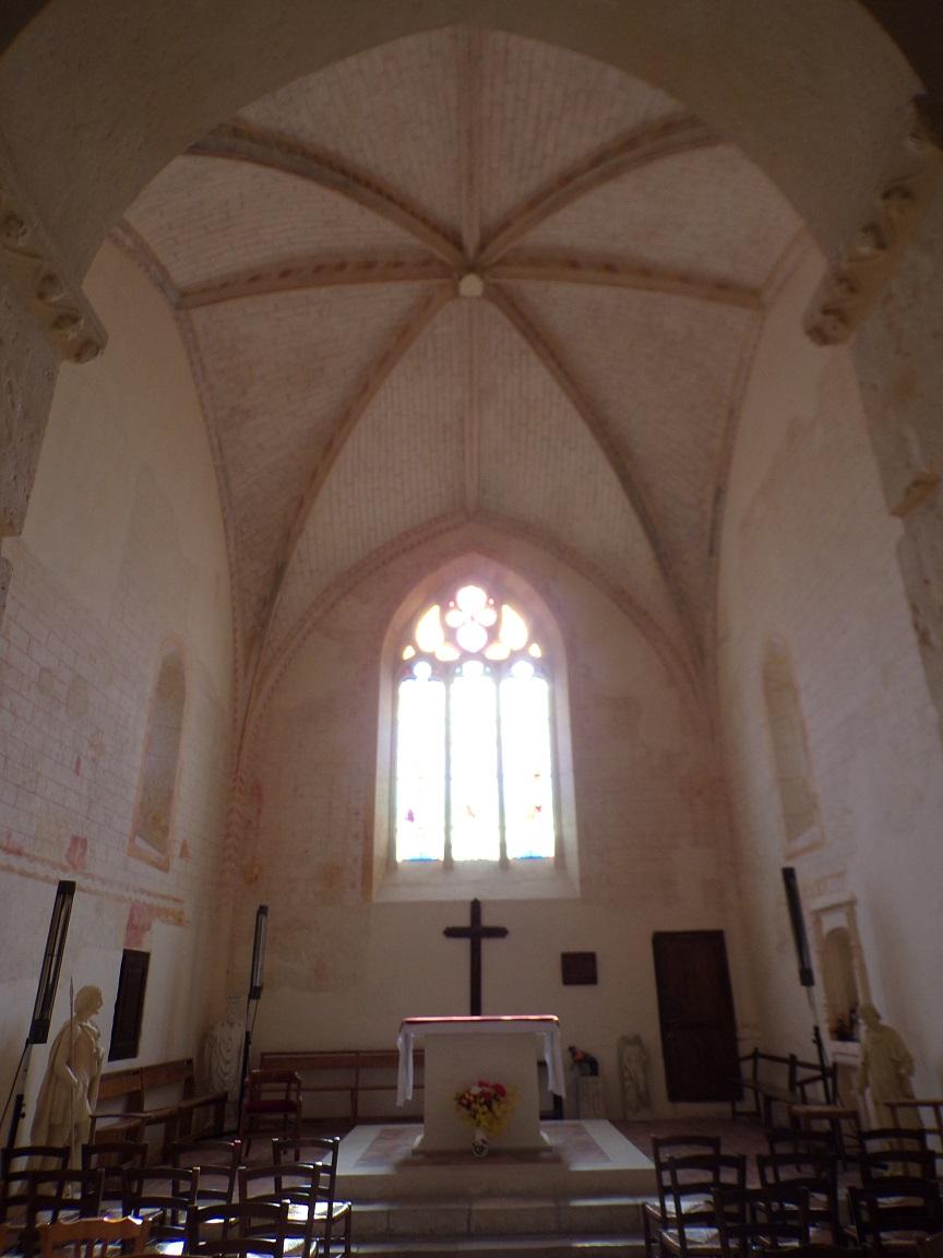 Chassors - L'église Saint-Romain - Le choeur (15 septembre 2018)