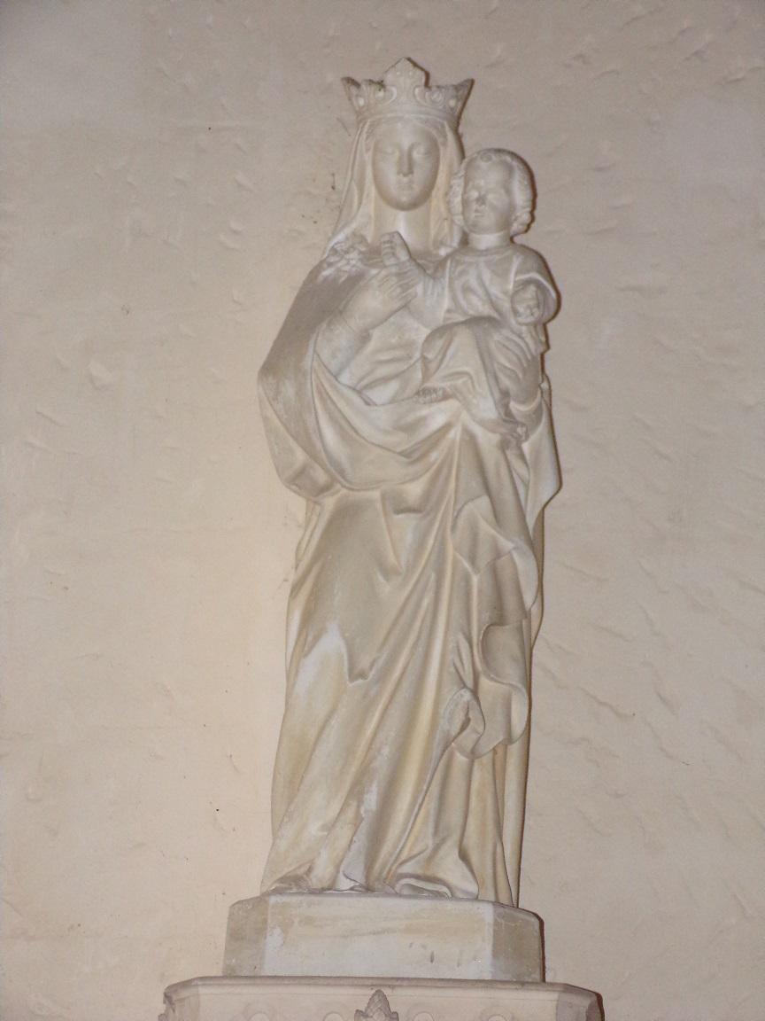 Chassors - L'église Saint-Romain - Vierge à l'Enfant (15 septembre 2018)