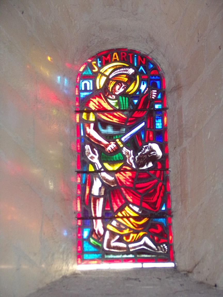 Châteaubernard - La chapelle Saint-Jean - Le vitrail ' Saint Martin' (24 septembre 2018)