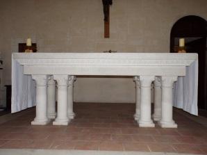 Châteaubernard - La chapelle Saint-Jean - L'autel (24 septembre 2018)