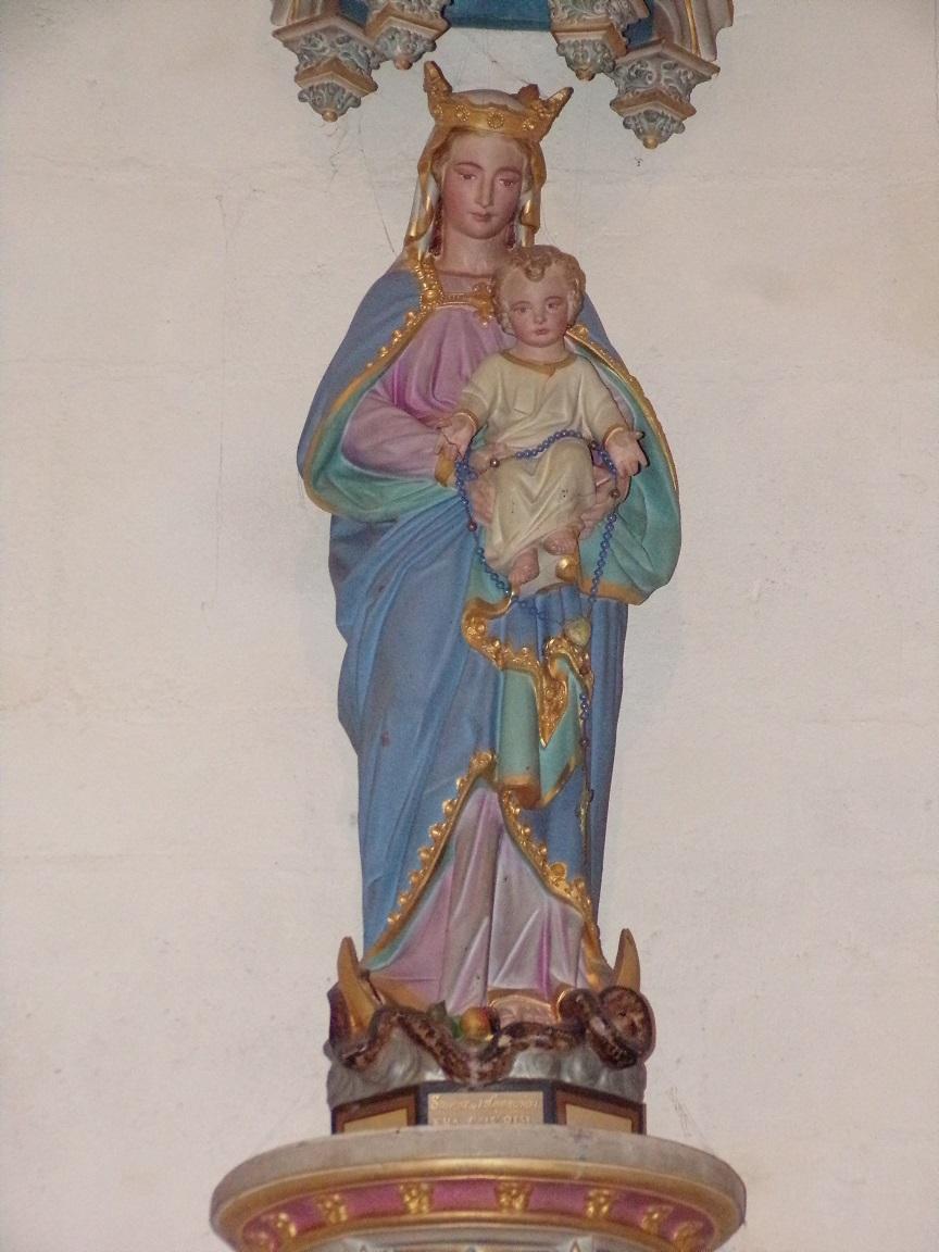 Châteaubernard - La chapelle Saint-Jean - La Vierge et l'Enfant (24 septembre 2018)