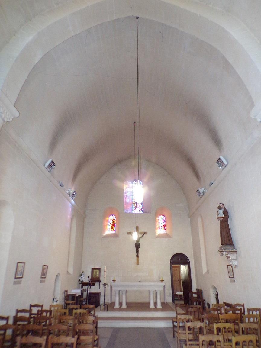Châteaubernard - La chapelle Saint-Jean - Vue de l'entrée (24 septembre 2018)