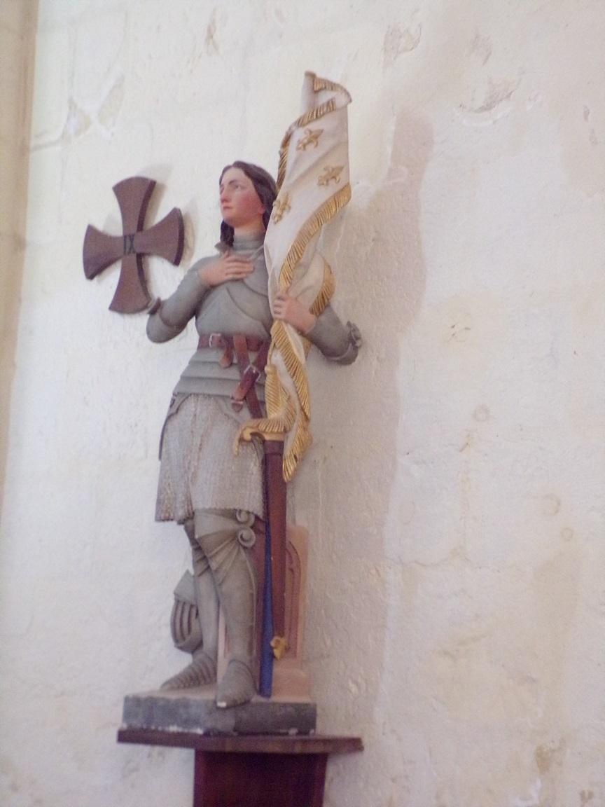 Chérac - L'église Saint-Gervais - Jeanne d'Arc (3 septembre 2016)