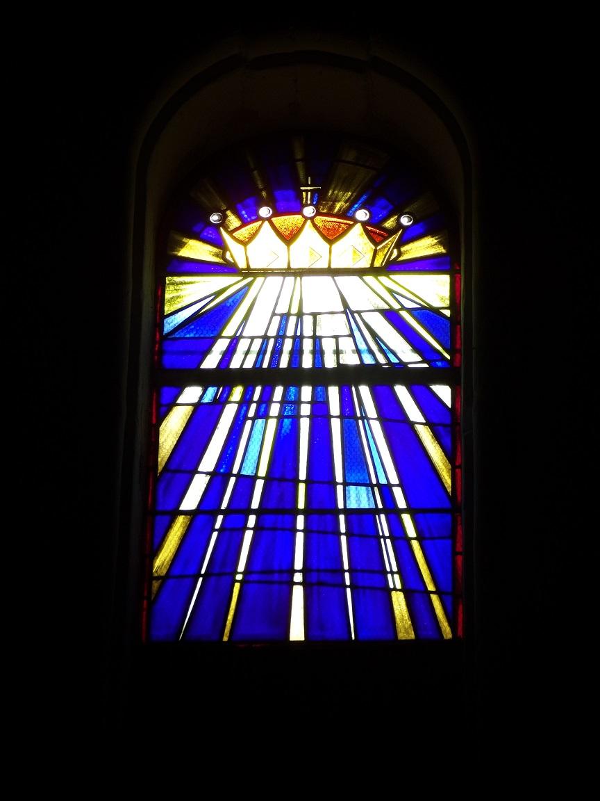 Cierzac - L'église Notre-Dame - Un vitrail (18 juillet 2018)