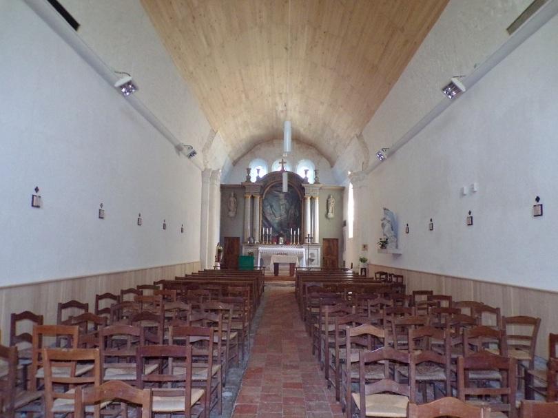 Cognac - L'église Saint-Martin - Vue de l'entrée (19 janvier 2021)