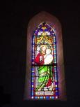 Coulonges - L'église Saint-Saturnin - Le vitrail 'Saint Joseph' (24 août 2019)