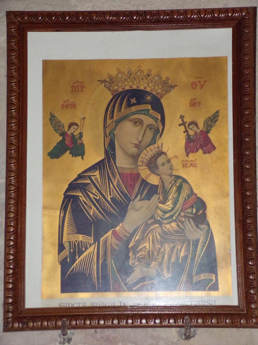 Coulonges - L'église Saint-Saturnin - Le tableau 'La Vierge et l'Enfant' (24 août 2019)