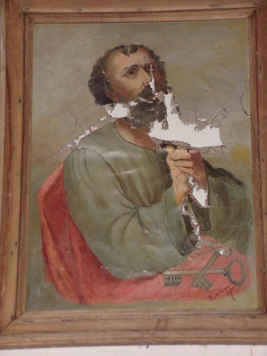 Courbillac - L'église d'Herpes - Un tableau (23 juillet 2018)
