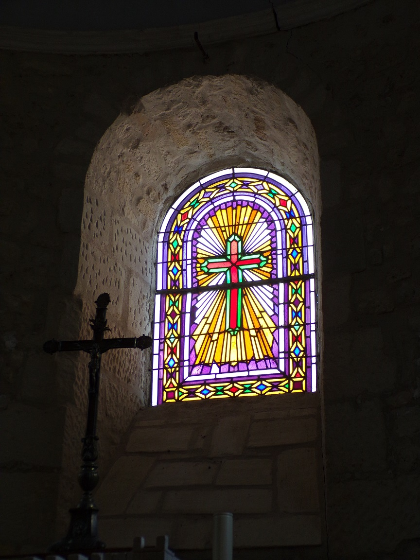 Dompierre-sur Charente - L'église Saint-Blaise - Un vitrail (8 juin 2018)