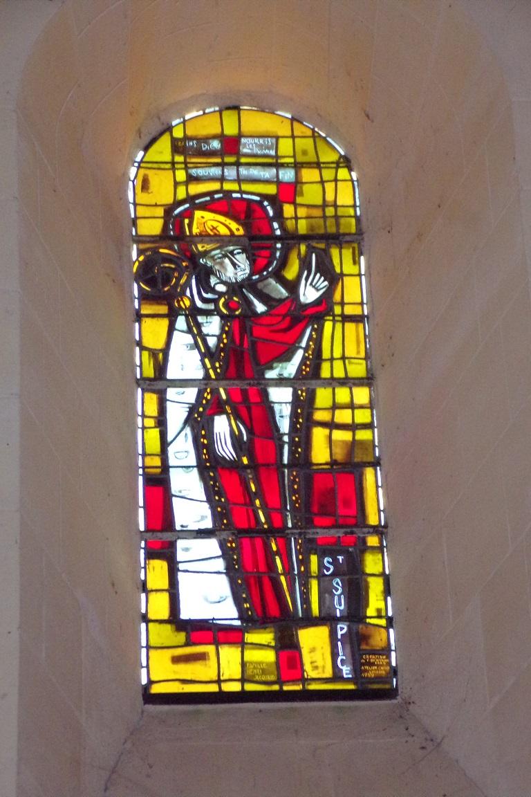 Saint-Sulpice de Cognac - L'église Saint Sulpice - Le vitrail 'Saint Sulpice' (12 avril 2017)