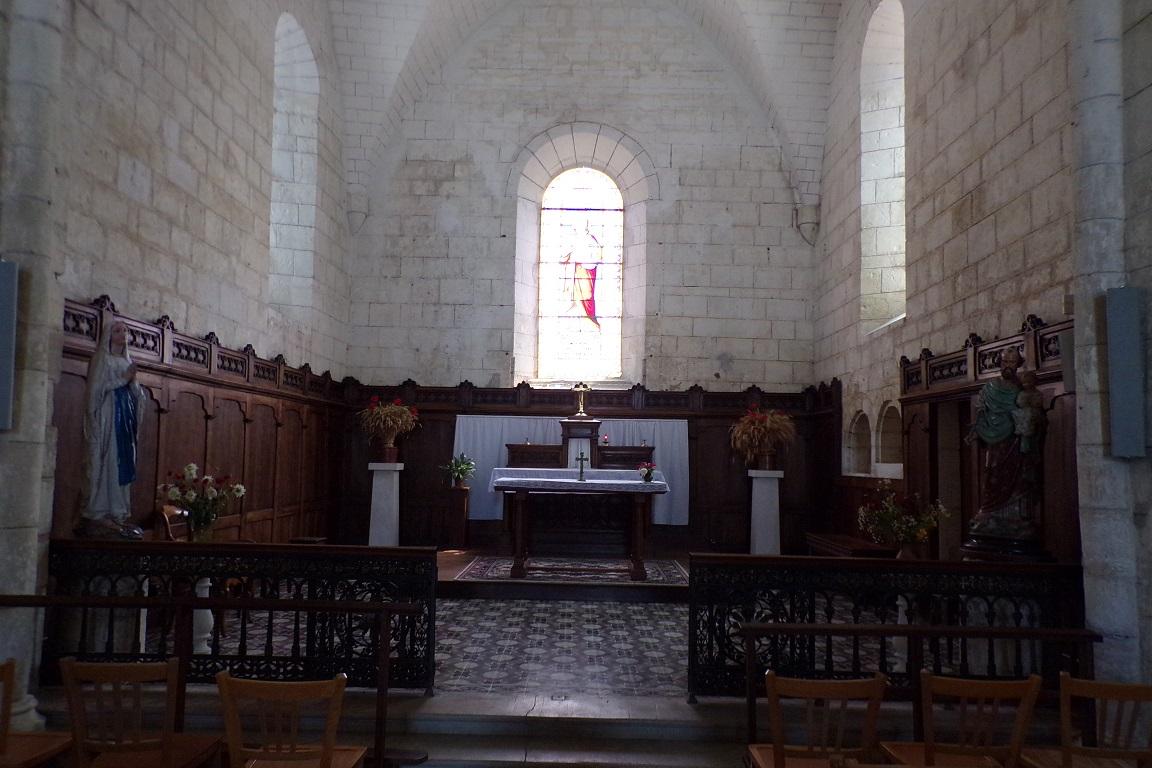Foussignac - L'église Saint-Cybard-et-Saint-Laurent - Le Choeur (15 juin 2017)