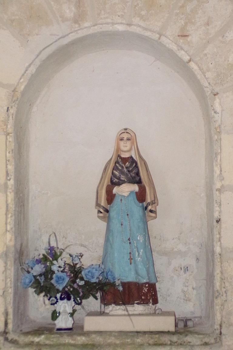 Bouteville - L'église Saint-Paul - Sainte Bernadette Soubirous (21 mars 2017)