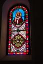 Fleurac - L'église Sainte-Élisabeth - Un vitrail (15 juin 2017)