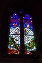 Javrezac - L'église Saint-Pierre - Un vitrail (22 juin 2017)
