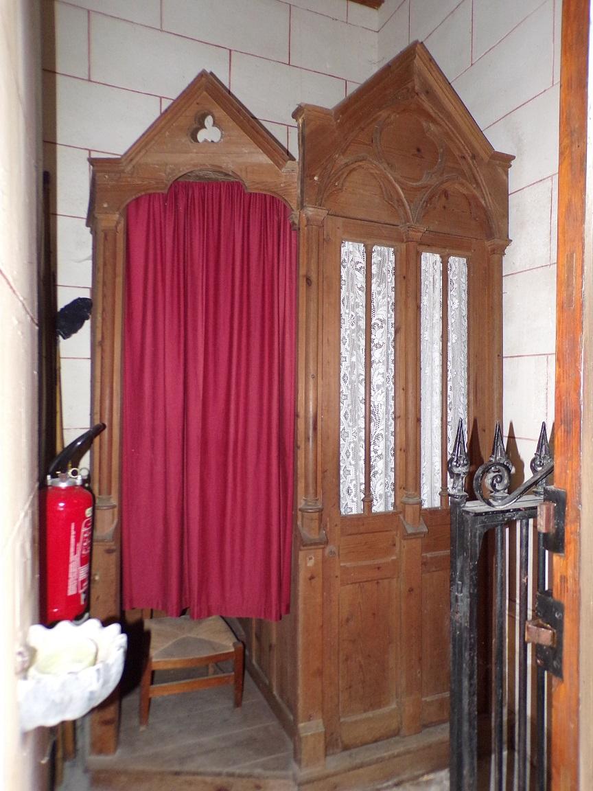 Gondeville - L'église Notre-Dame - Le confessionnal (21 septembre 2019)