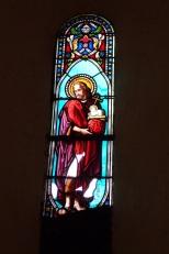 Sonnac - L'église Saint-Etienne - Un vitrail (2 janvier 2018)