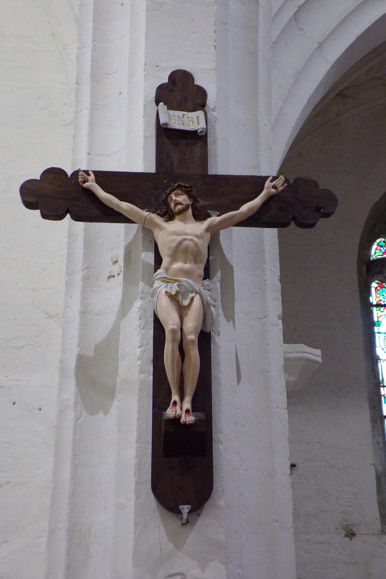 Sonnac - L'église Saint-Etienne - Le Crucifix (2 janvier 2018)