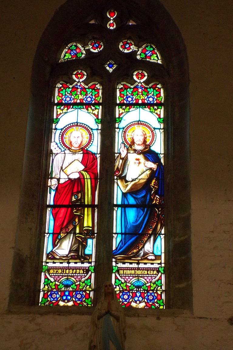 Sonnac - L'église Saint-Etienne - Le vitrail 'Saint Joseph : il les aima jusqu'à la fin' (2 janvier 2018)