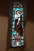 Sonnac - L'église Saint-Etienne - Le vitrail 'Sainte Eustelle' (2 janvier 2018)