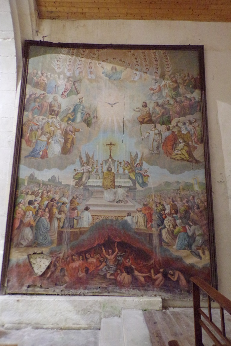 Sonnac - L'église Saint-Etienne - Un tableau (2 janvier 2018)