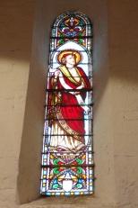 Sonnac - L'église Saint-Etienne - Le vitrail 'Isaïe' (2 janvier 2018)
