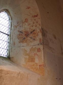 Graves-Saint-Amant - L'église Saint-Martin - Une peinture murale (21 septembre 2019)
