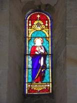 Ambleville - L'église Saint-Pierre - Le vitrail 'Cœur Sacré de Jésus' (21 septembre 2019)