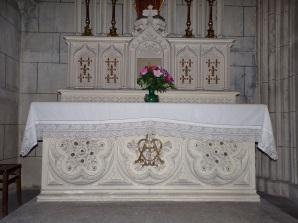 Javrezac - L'église Saint-Pierre - L'autel de la chapelle de la Sainte Vierge (5 mars 2019)