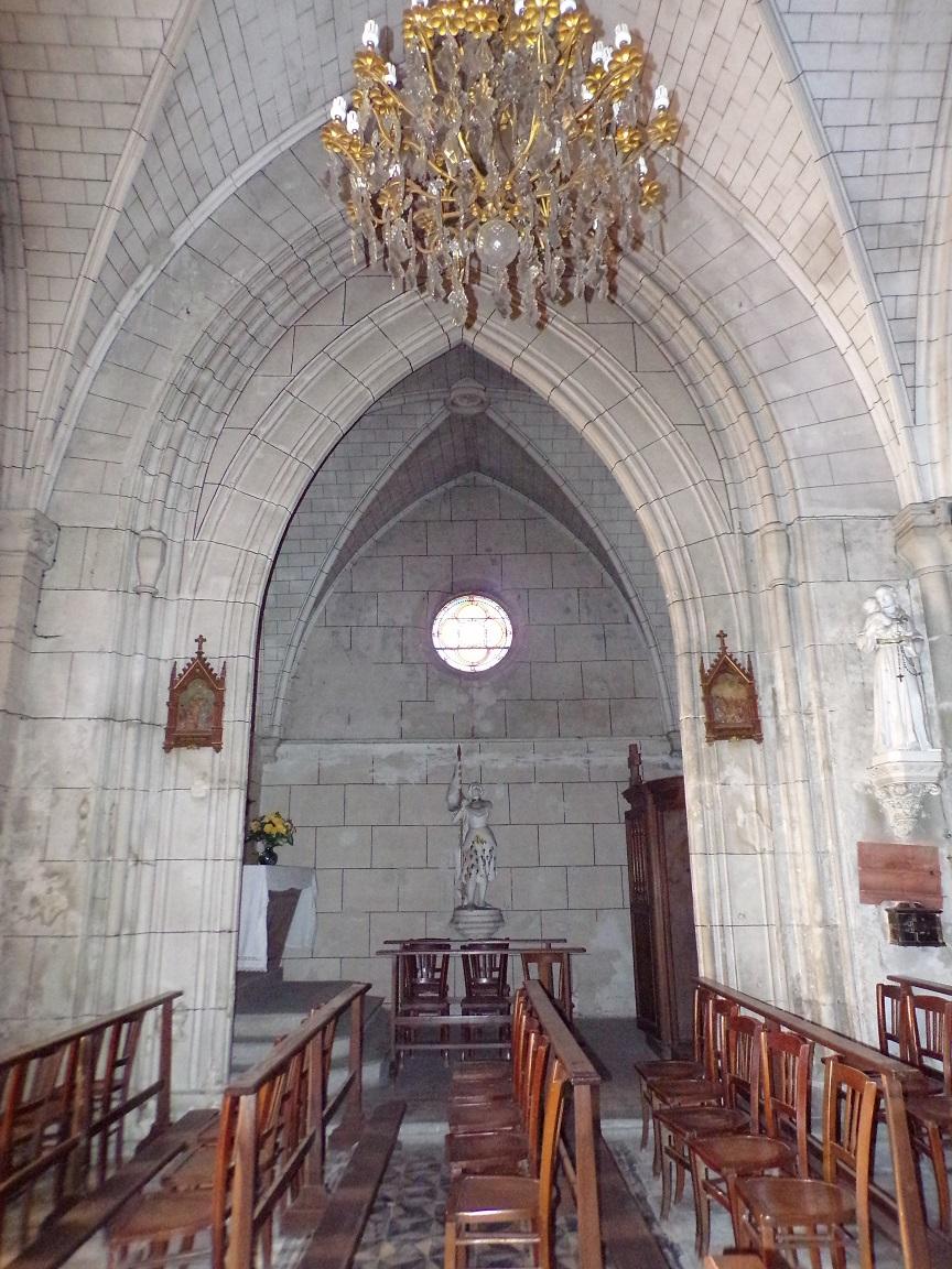 Javrezac - L'église Saint-Pierre - La chapelle de la Sainte Vierge (5 mars 2019)