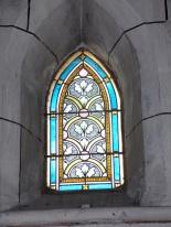 Javrezac - L'église Saint-Pierre - Un vitrail (5 mars 2019)